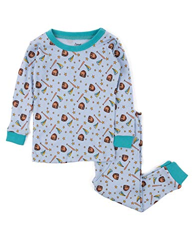 Leveret Kids Pajamas Baseball Overall Print Boys & Girls 2 Piece pjs Set 100% Cotton Size 6 Years