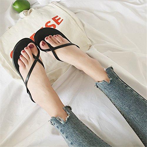 Mujeres de beauty Silver Zapatillas 1 Playa love EU Plana Abierta Verano Color 3 para Black Plataforma Size Sandalias 39 Punta de de Sandalias Angel Antideslizantes de PAH8nqww