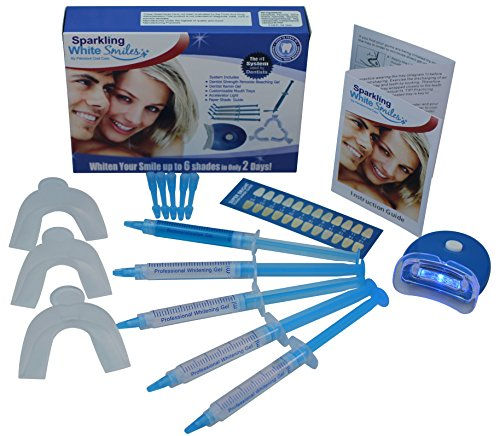 Premium Teeth Whitening System - Teeth Whitening Kit - Fast Results - Professional Grade - Whiter and Brighter Teeth - Easy to Use At Home - All Inclusive Complete Teeth Whitening Package (Best At Home Whitening System)