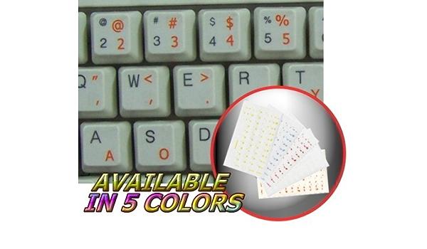 Pegatinas para teclado simplificadas de DVORAK con letras de ...
