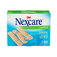 Nexcare Comfort Bandages, One-Size, 80 Count