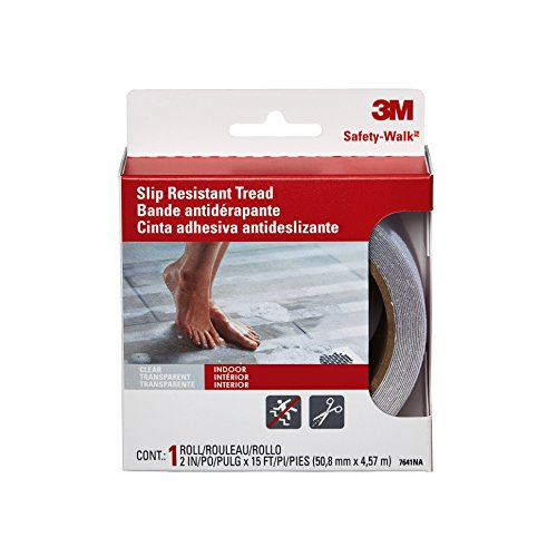 3M Safety-Walk Tub and Shower Tread, Clear, 2-Inch by 180-Inch Roll, 7641NA