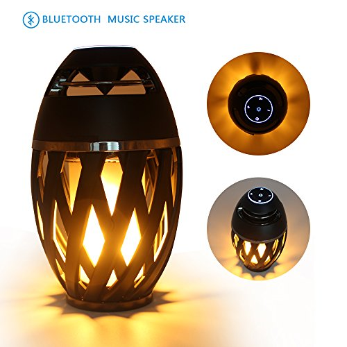 Flame Gift (Warm Light Led Lamp Speaker,Desk Lamp Bluetooth Night Light USB charger Outdoor/Indoor Portable Stereo Bluetooth Speaker,Dancing Flicker Flame Camping Lamp Portable Wireless,Festival Gift by LEDMEI)