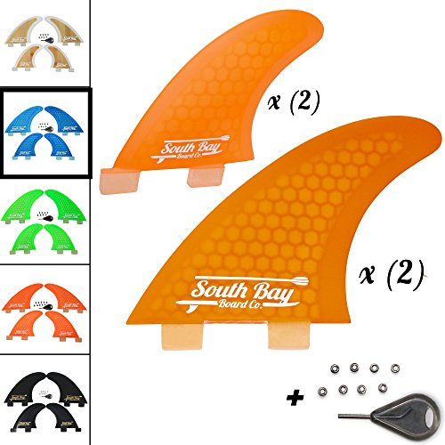 South Bay Board Co. SBBC - FCS Surfboard Fins - || Thruster & Quad Surf Fins || - Multiple Color Options Available - Thruster Fin
