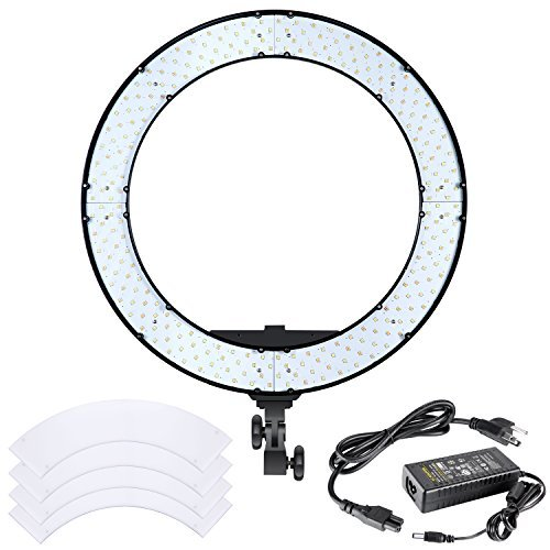 Neewer 18 inches 55W LED Ring Light - Dimmable Bi-color Lighting Kit with LCD Display and White Filter, 252 LED Beads, 3200-5600K, CRI 95+ for Camera Photo Studio YouTube Video Photography by Neewer
