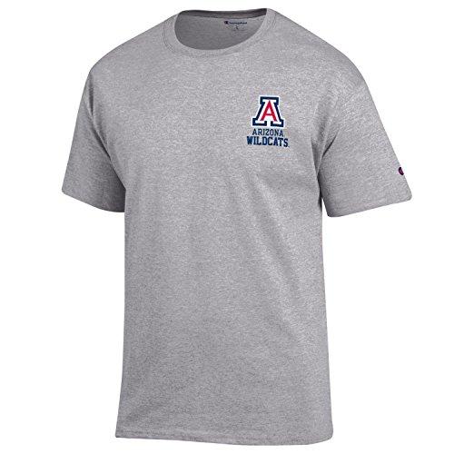 Champion NCAA Arizona Wildcats Men's Men's Flexbone Short sleeve T-Shirt, Medium, Gray -