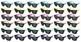 Edge I-Wear 36 Pack Neon Party Sunglasses with CPSIA) certified-Lead(Pb) Content Free and UV 400 Lens 5402R-SET-36 (Made in Taiwan)