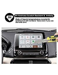 2018 Ford EcoSport SYNC 3 Sistema de infoentretenimiento 8 pulgadas Protector de pantalla de navegación con pantalla para autos, RUIYA HD Película de protección para pantalla de tablero de auto en vidrio templado