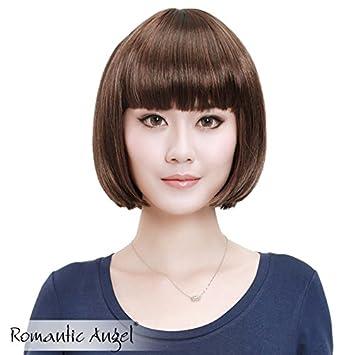 Amazon Com Ms Fashion Bob Wig Oblique Liu Qi Qi Ear Mushroom