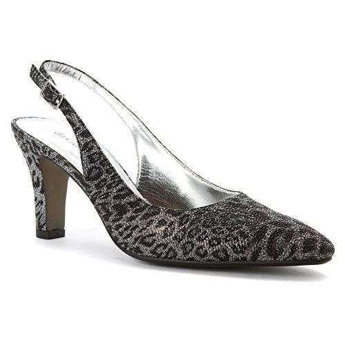 David Tate Womens Lace Shoe Black Leopard