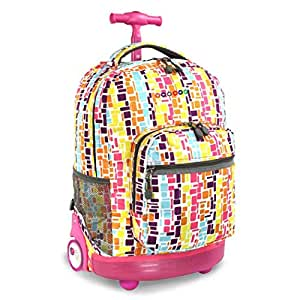 Amazon.com: Kids Pink Squares Geometric Themed Rolling