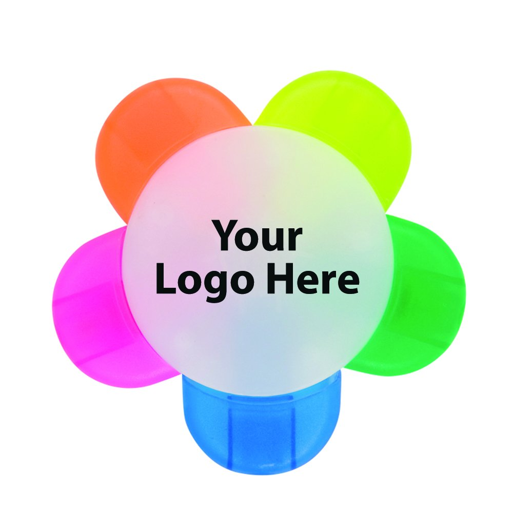Flower Highlighter - 150 Quantity - $1.85 Each - PROMOTIONAL PRODUCT / BULK / BRANDED with YOUR LOGO / CUSTOMIZED