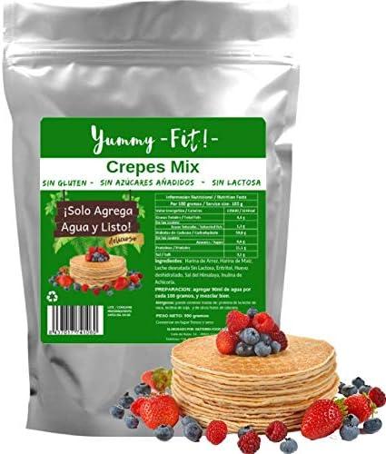 Mezcla para Crepes Sin Gluten, Sin Lactosa, y Sin Azúcares ...