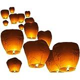 Pack X10 Lanternes Volantes Biodégradables Et Non