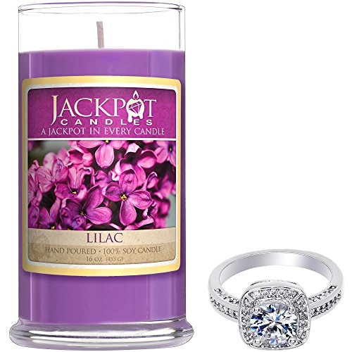 Jackpot Candles Lilac Candle with Ring Inside (Surprise Jewelry Valued at $15 to $5,000) Ring Size 7