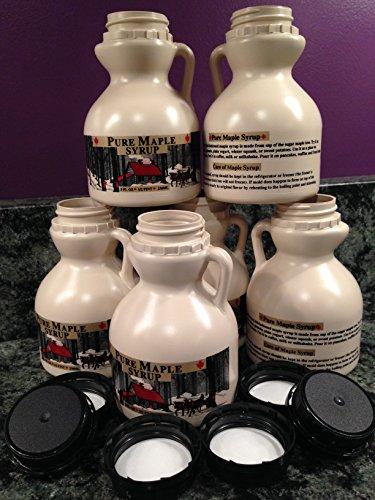 Empty Maple Syrup Jugs - Half Pint (8 FL OZ Each) - Case of 6 -