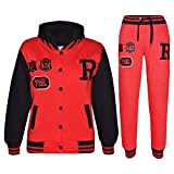 Kids Girls Boys Baseball Tracksuit NYC Fox Jacket & Trouser Sports Hoodie Bottom Joggers Age 2-13 Years