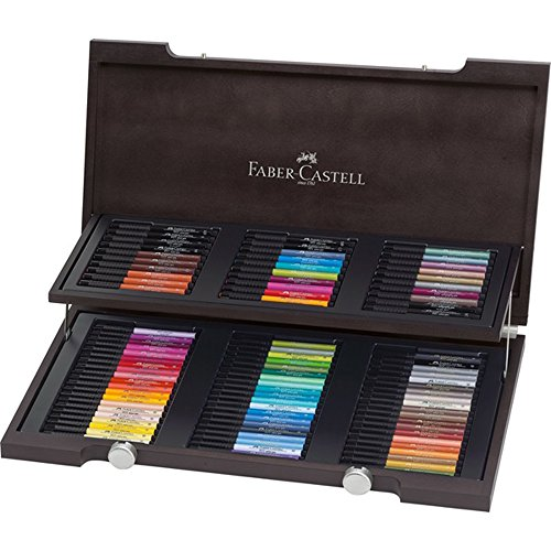 Faber-Castell Pitt Artist Wooden Box, Pack of 90 by Faber-Castell