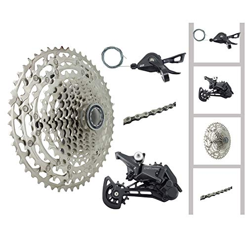JGbike Compatible MTB groupset for Shimano Deore M6100,SLX M7100,XT M8100 12 Speed 10-51T Cassette,for New Micro Spline hub ONLY