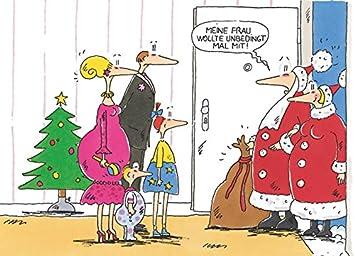 Comic Bilder Weihnachten.Postkarte A6 1928 Weihnachtsfrau Von Inkognito Künstler