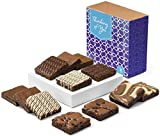 Fairytale Brownies Thinking of You Nut-Free Dozen Gourmet Chocolate Food Gift Basket - 3 Inch Square Full-Size Brownies - 12 Pieces - Item CT122