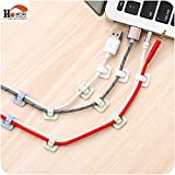 18pcs/lot Practical plastic desktop winder cable organizer cable Home office computer headphone bobbin wires holder