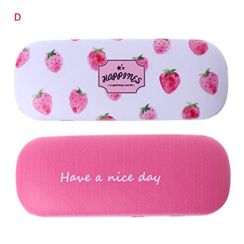 Amrka Protable Hard Eye Glasses Case Sunglasses Box with Fruit Printing Pattern Eyewear Protector Box Pouch Bag for Children Girls - Sunglasses Strawberry