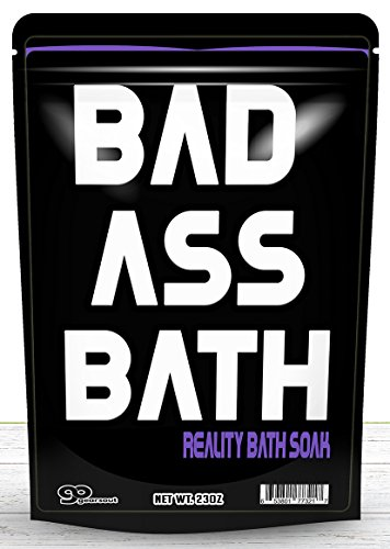 Badass Bath Soak - Bad Ass Bath Salts Purple Bath Funny Gifts for Friends Funny Bath Products Spa Gifts for Men Stocking Stuffers Gag Gifts for Women Cool Gifts for Guys Dad Unisex White Elephant Gift