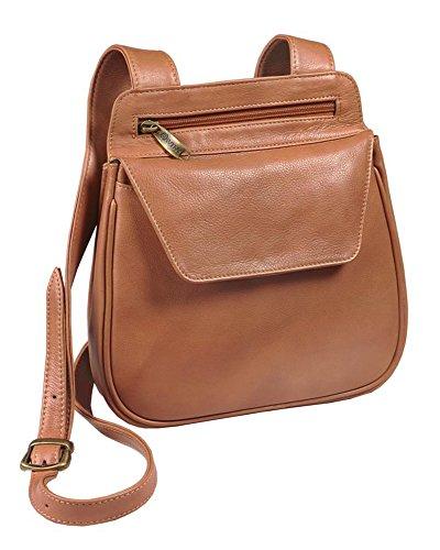 Winn Cowhide Napa Leather Shoulder Bag with a Removable Belt Bag - Camel