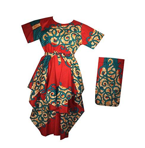Decoraapparel Dress Wax Front Short Short Dress P16 Red Womens Cotton Stylish Sleeve 2 ZqxZr0
