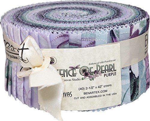 Essence of Pearl Purple Jelly Roll by Benartex 40 2 1/2