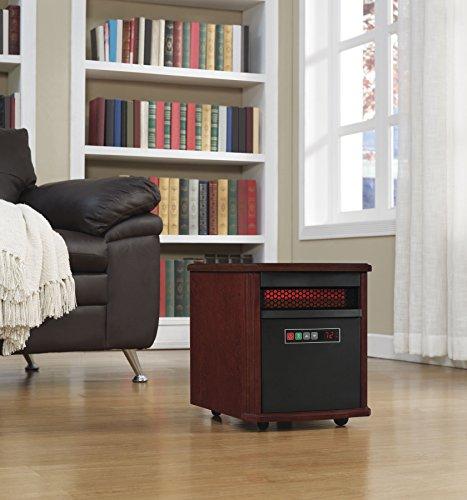 Duraflame 9HM7253-C299 Portable Electric Infrared Quartz Heater, Dark Cherry