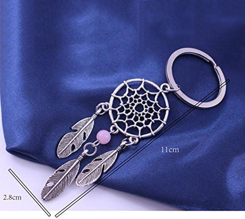 Lumanuby 1 Pcs Keychain Dream Catcher Leaves Design Keyring Keychain Car Key Chain Fantasy Pendant Keychain Car Decoration//Door//Phone//Bag