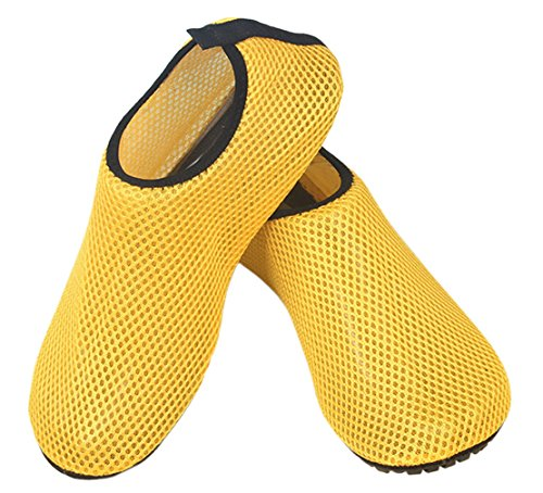 Shoes Yellow Panegy Skin Outdoor Mens Foot Soft Slip Slip Water Mesh Anti Wading On Breathable soled Womens ZTaZFg