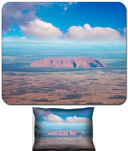 Luxlady Mouse Wrist Rest and Small Mousepad Set, 2pc Wrist Support design IMAGE: 25627221 Autralian Outback Aerial view of desert area