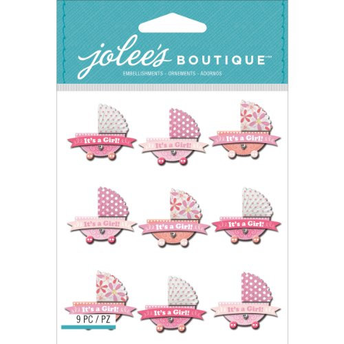 Jolee's Boutique Dimensional Stickers, Baby Girl Stroller Repeats