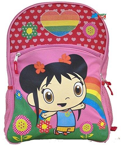 """Ni Hao Kai-Lan Large 16"""" Cloth Backpack Book Bag Pack - Pink"""