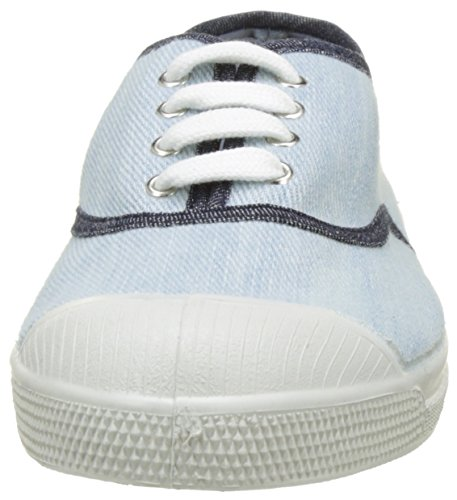 Bensimon Damen Tennis Lacet Bleached Denm Flach Bleu (Bleu)
