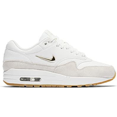 2528e0367316f NIKE Womens - Air Max 1 Jewel  Rare  - White Gold - UK 9  Amazon.co ...