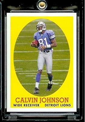 "2007 Topps #8 Calvin Johnson Detroit Lions ""Turn Back The Clock"" Football Rookie Card"