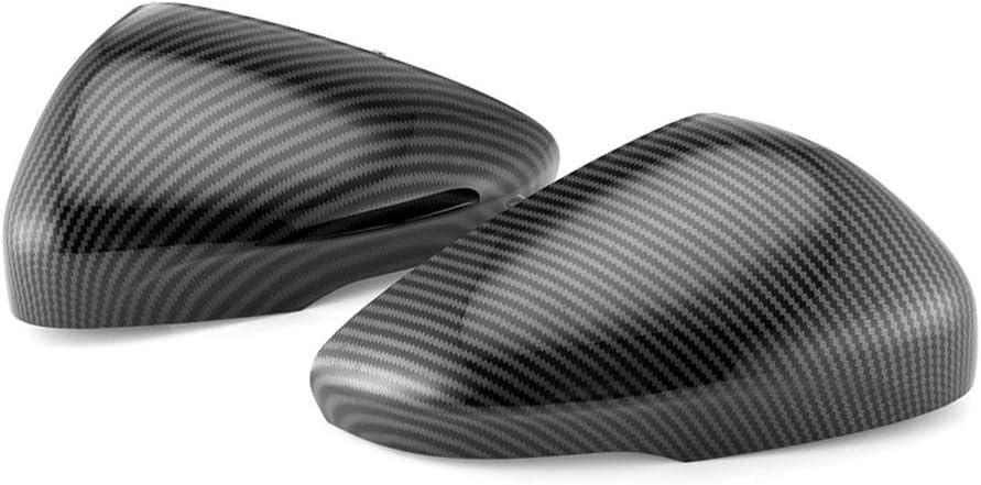 para Ford Focus 2019-2020 WASHZD Carcasa de Espejo retrovisor de Coche con alas Laterales Cubierta de Espejo retrovisor de Fibra de Carbono Accesorios de Tapa