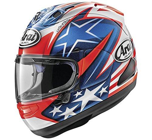 - Arai Corsair X Nicky 7 Motorcycle Helmet Red/White/Blue 2XL