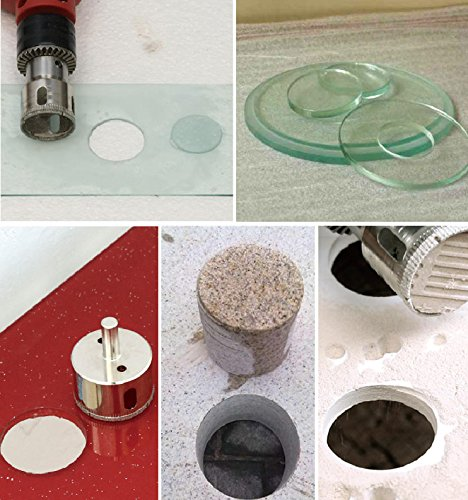 Stone Kictero Diamond drill bit Extractor Remover Tools Hole Saws for Glass diamond core drill Porcelain and Ceramic Tile