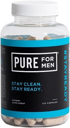 Pure for Men - The Original Vegan Cleanliness Fiber Supplement - Proven Proprietary Formula (120 Capsules with Aloe)