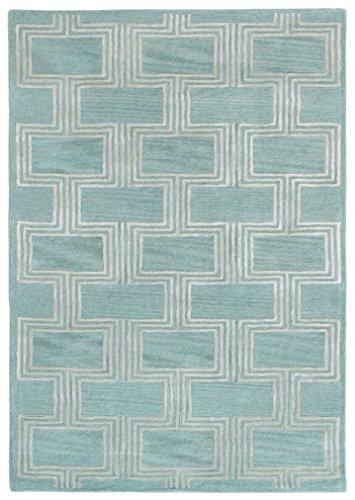 Liora Manne Turin Frame Indoor Rug, 8' x 10', Aqua Blue