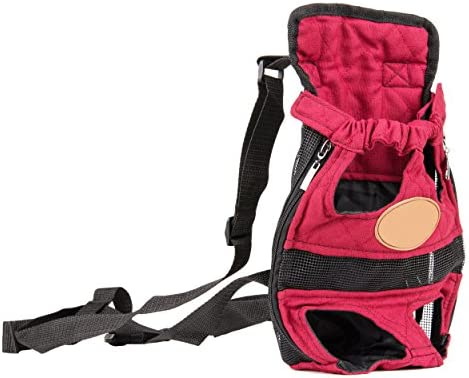 CueCue Pet Legs Out and Hands Free Adjustable and Comfortable Dog Front Chest Carrier Pack with Shoulder Straps