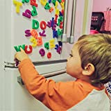LETTERS ALPHABET Number Magnetic Fridge Baby Kids Learning Teaching Games Toys,Uppercase Letters and Numbers