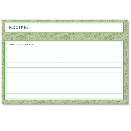 Cookbook People Recipe Card Dividers for 4x6 Recipe Box Tabbed Organizers (Avocado Cards)