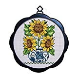 Cross Stitch Stamped Kits Quilt Pre-Printed Patterns Cross-Stitching for Beginner Kids Adults 11CT Embroidery...