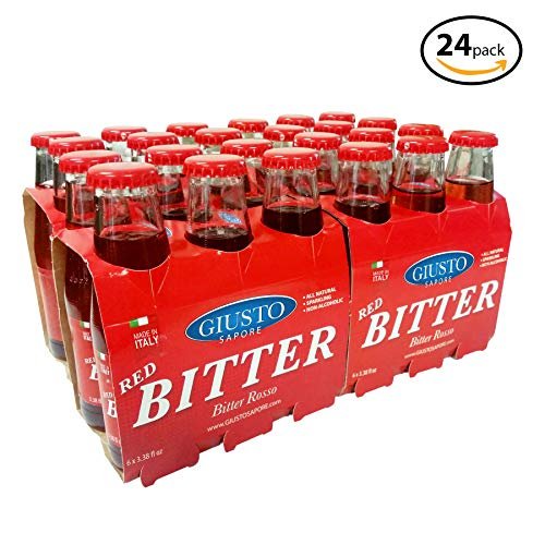 Giusto Sapore All Natural Premium Red Bitters - Superior Quality Gourmet Brand (24 Pack)